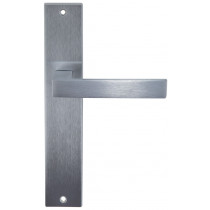 POIGNEE DE PORTE ANGOLO SUR PLAQUE FINITION CHROME SATINE GROEL