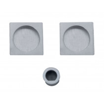 SET DE POIGNEES CUVETTE CARRE RONDE