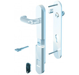 POIGNEE DE PORTE DE SECURITE BLINDOMAG FINITION ALUMINIUM NATUREL F6