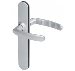 POIGNEE DE PORTE SLIM ENTRAXE 195 MM FINITION CHROME SATIN VACHETTE
