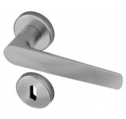 POIGNEE DE PORTE SUR ROSACE GAIA FINITION CHROME SATINE ENTECH