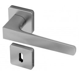 POIGNEE DE PORTE SUR ROSACE GAIUS FINITION CHROME SATINE ENTECH