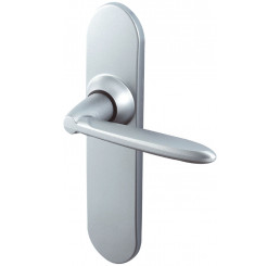 POIGNEE DE PORTE TANGO ENTRAXE 165 MM FINITION CHROME VELOURS VACHETTE