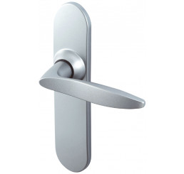 POIGNEE DE PORTE TWIST ENTRAXE 165 MM FINITION CHROME VELOURS VACHETTE