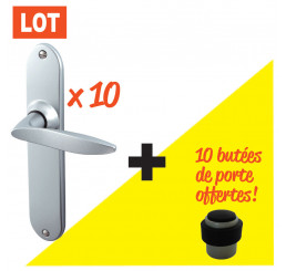 KIT 10 POIGNEES DE PORTE TWIST VELOURS 195 + 10 BUTEES OFFERTES