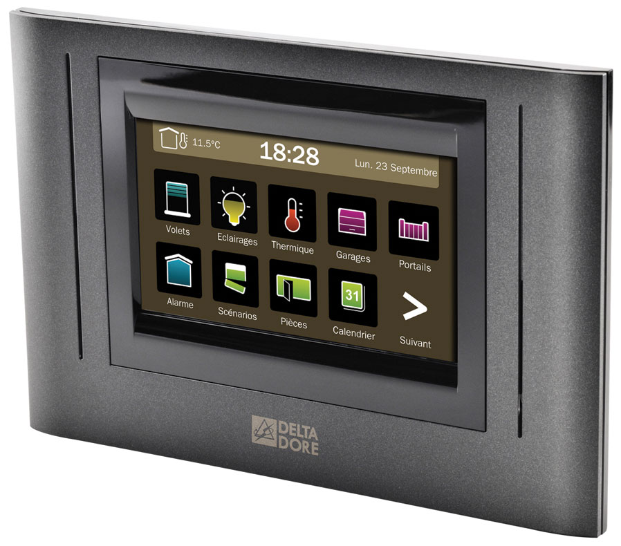 france quincaillerie ecran tactile domotique tydom 4000 delta dore. Black Bedroom Furniture Sets. Home Design Ideas