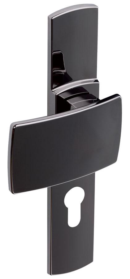 france quincaillerie poignee de porte grande plaque artis finition diamant noir vachette assa. Black Bedroom Furniture Sets. Home Design Ideas