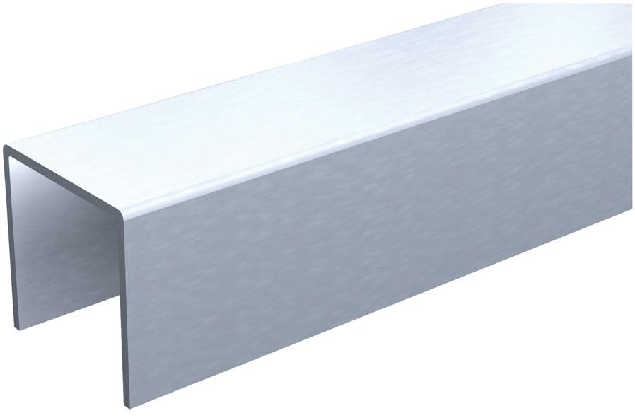 france quincaillerie rail de guidage en u mantion 2 25 x 17. Black Bedroom Furniture Sets. Home Design Ideas